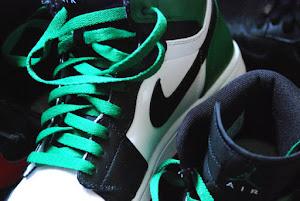 Jordan 1's  wht/green/blk