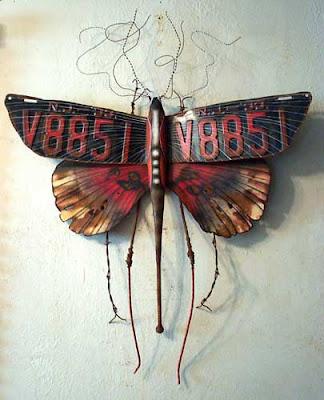 mariposa metal insecto
