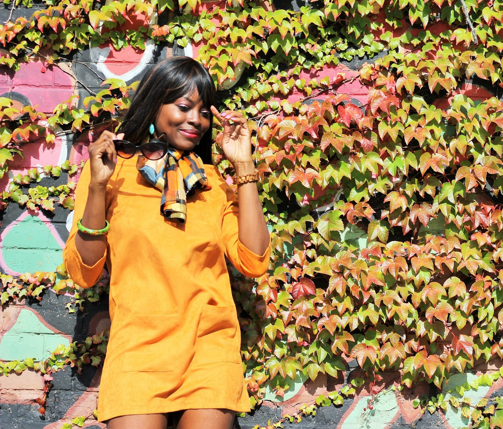 Yellow Informal Mini Lace-Up Pocket Dress