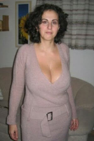 Cleavage wife real mature