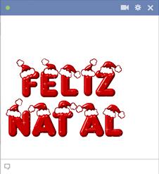 Feliz Natal Emoticon