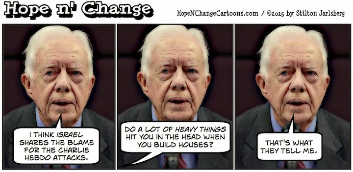 obama, obama jokes, political, humor, cartoon, conservative, hope n' change, hope and change, stilton jarlsberg, jimmy carter, hebdo, terror, israel
