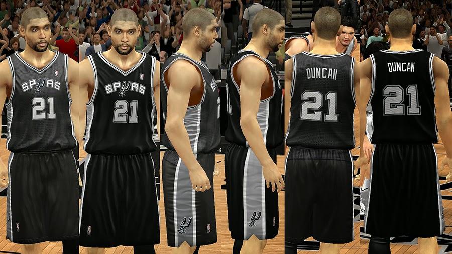 NBA 2K14 San Antonio Spurs Jersey Mod Pack