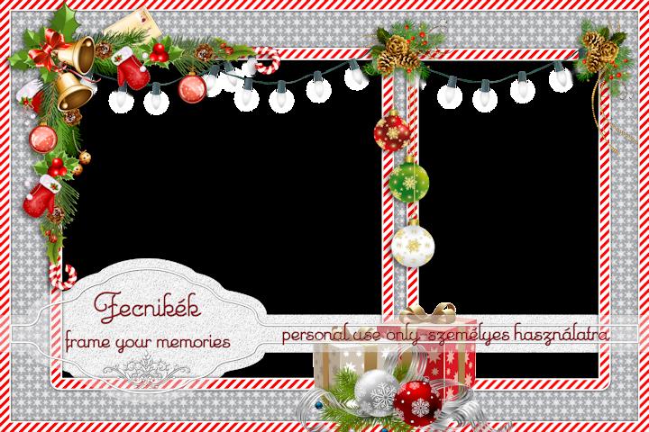 double christmas frame