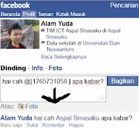 Tips Tag Teman @ Status Facebook Via Ponsel