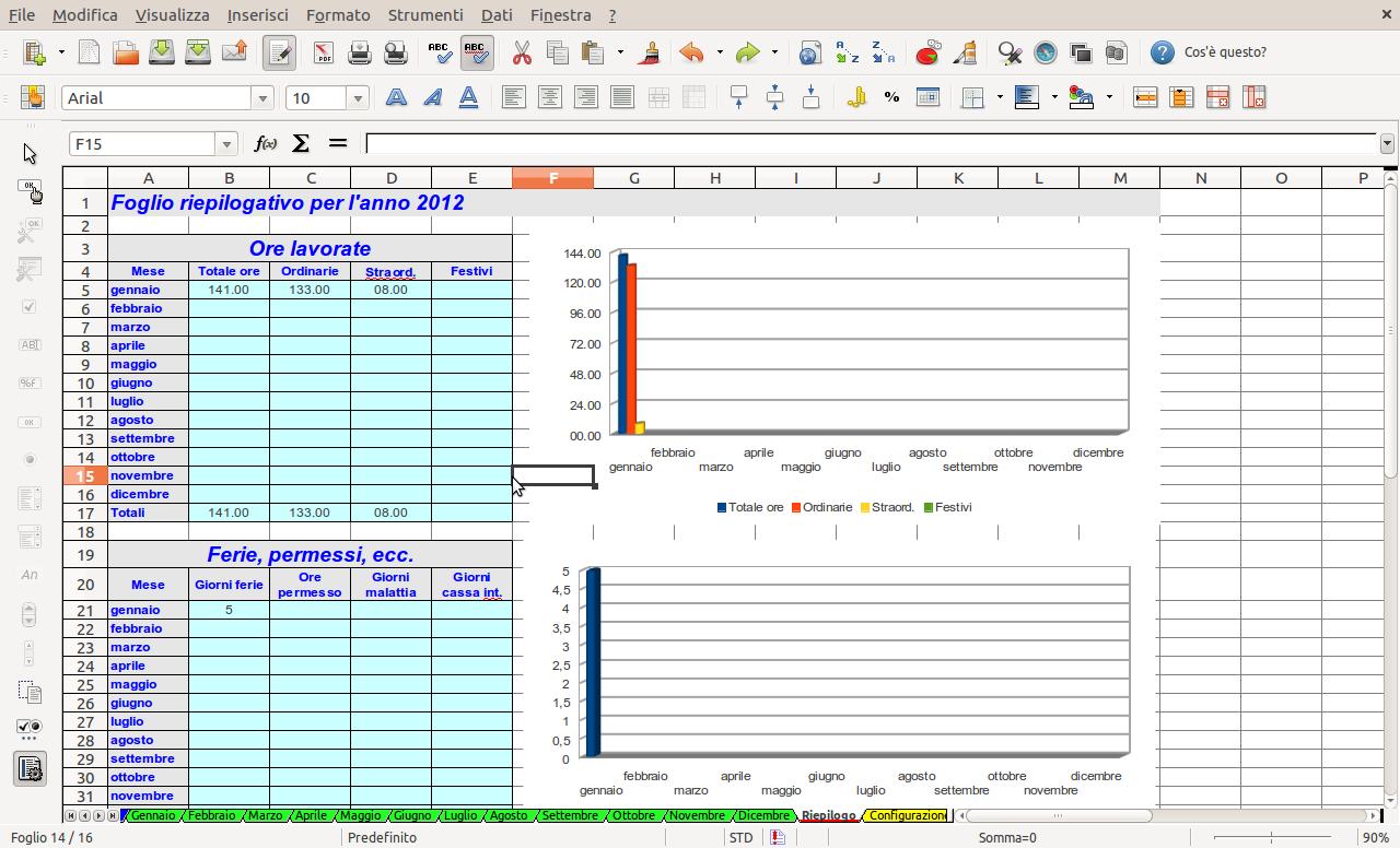 Openoffice libreoffice il controllo delle ore lavorate for Tabelle open office