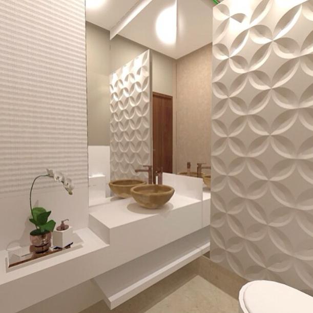 decoracao banheiro todo branco:Postado por Priscila Alves às 13:13