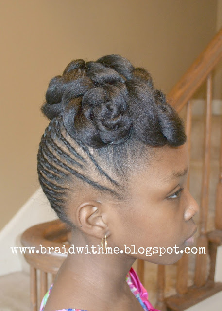 Little Girl Updo with Braids