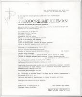 Théodore Meulleman 1888-1988