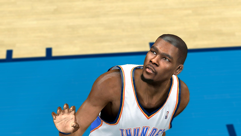 NBA 2K14 Kevin Durant Shaved Hair