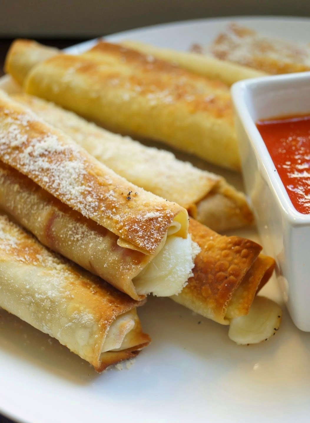 Lightened Up Baked Pizza Roll Ups