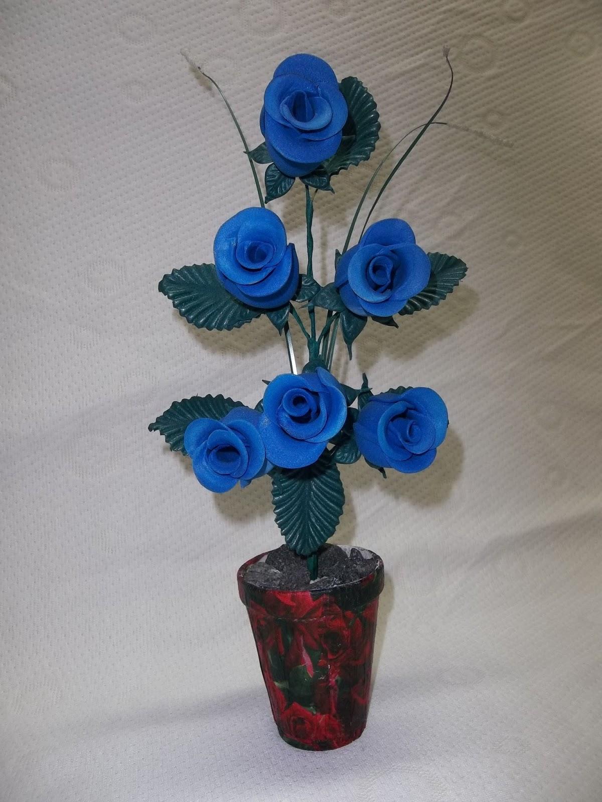 Flores en goma eva centro de mesas varios - Flor de goma eva ...