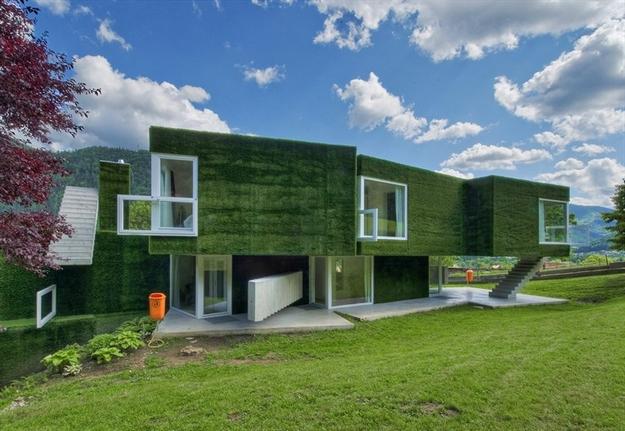 في النمسا واحد من أغرب المنازل التي شيدت وتم تغطيتها بالعشب الأخضر Grass-Covered-House-in-Frohnleiten-by-ORTIS-GmbH-17
