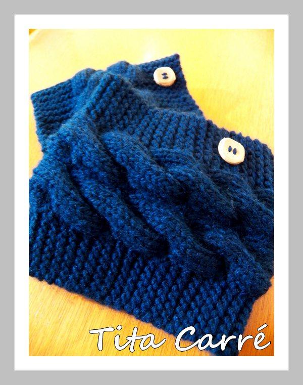 Boots Cuffs\Mini polaina com cordas em tricot
