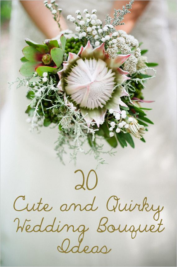 Cute and quirky wedding bouquet ideas for Bridal flower bouquets ideas