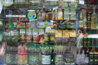 Edible marijuana products in shop window, Amsterdam (Photo by nickolette)