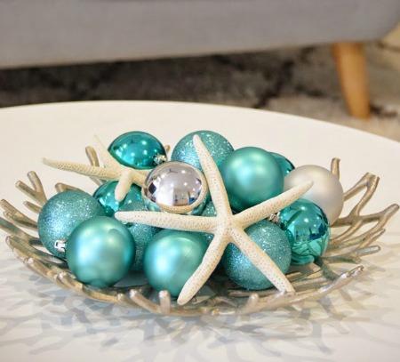 Coral Christmas Bowl