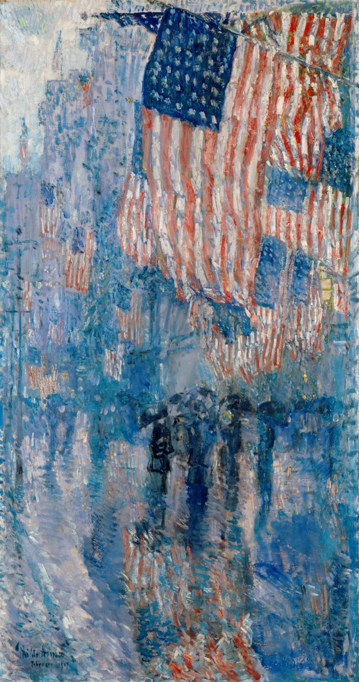 Childe+Hassam+1859-1935+-+American+painter+-+Avenue+of+the+Allies+1918+-+The+Impressionist+Flags++%281%29