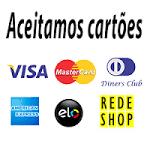 Aceitamos todos os cartões de crédito.