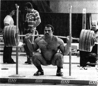 Unfortunately it's impossible to squat like that without a sweet ...