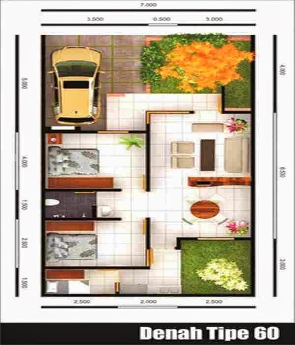 Aneka inspirasi Model Rumah Minimalis Type 60 1 Lantai yg cantik