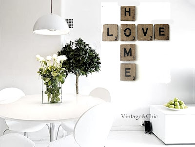 Decoracion vintage industrial retro chic - Scrabble decoracion ...