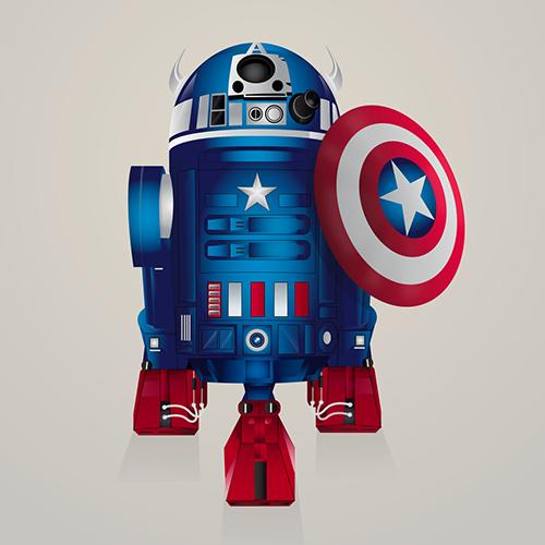 10-Captain-America-Steve-Berrington-Batman-v-Superman-and-their-Superhero-R2-D2-Friends-www-designstack-co