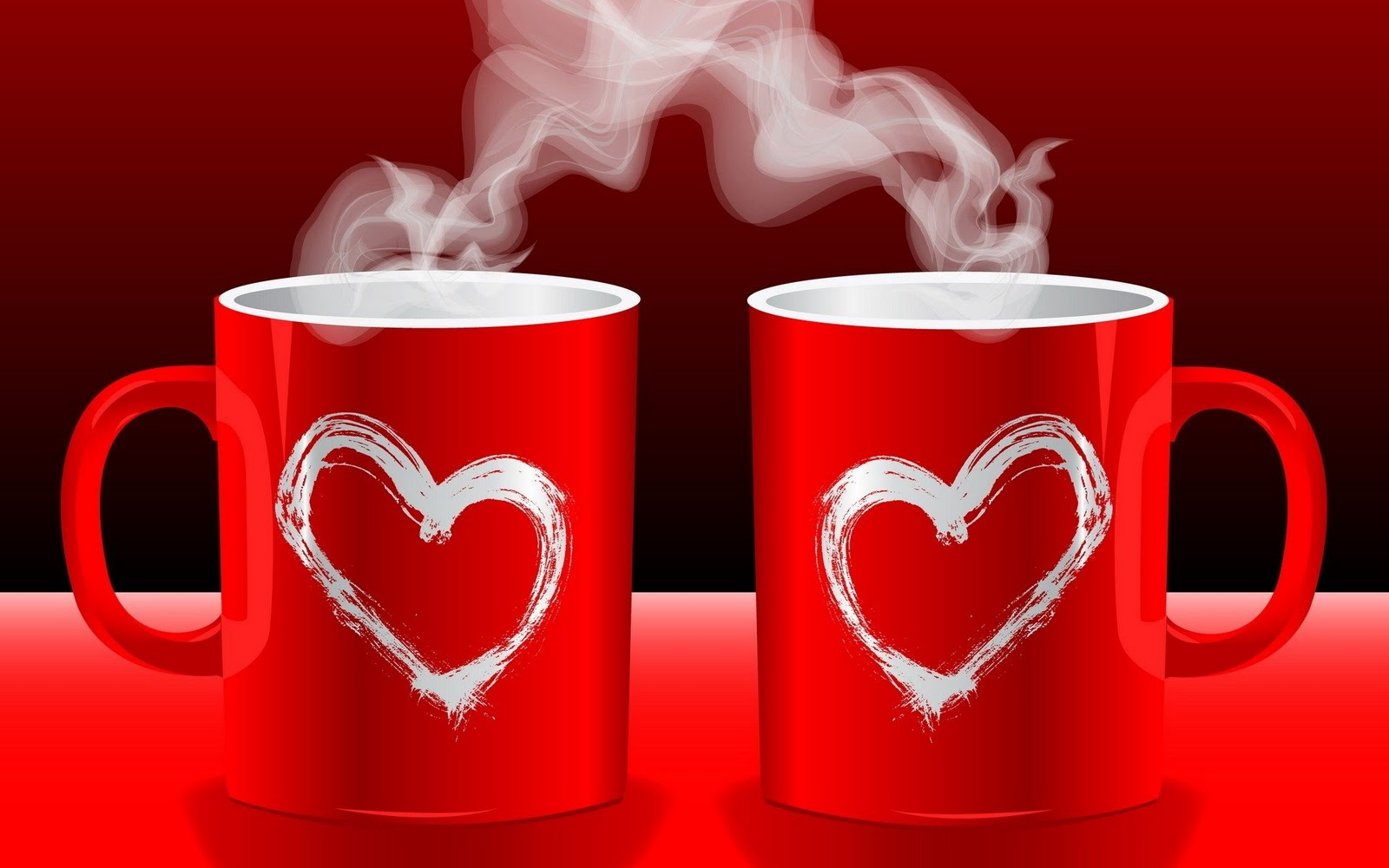 Love Hearts coffee Good Morning HD Wallpaper Love ...