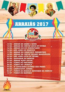 PROGRAMAÇÃO DE ARRAIAS 2017