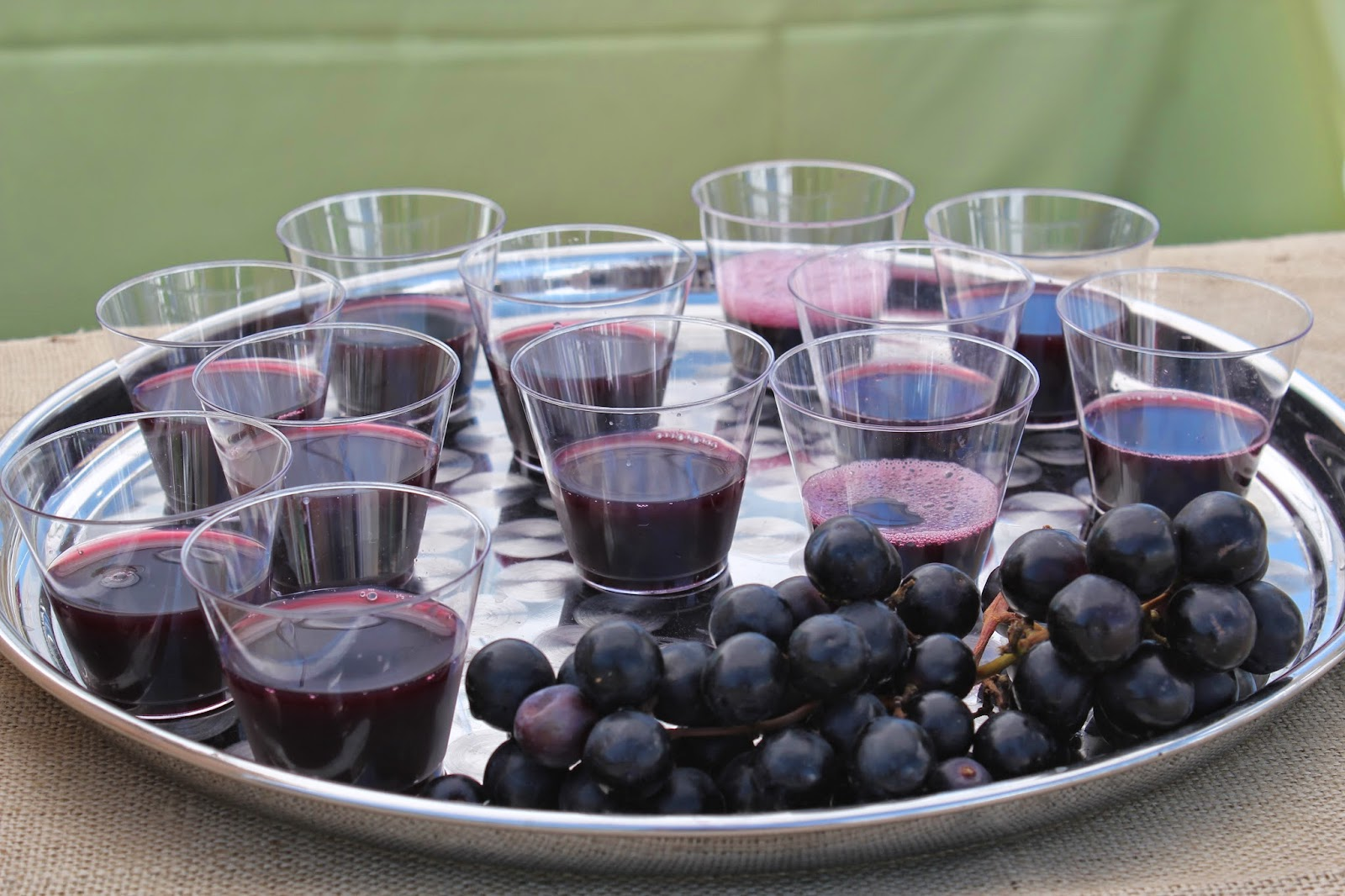 Samples of Farmer's Pick by Welch's Concord Grape juice