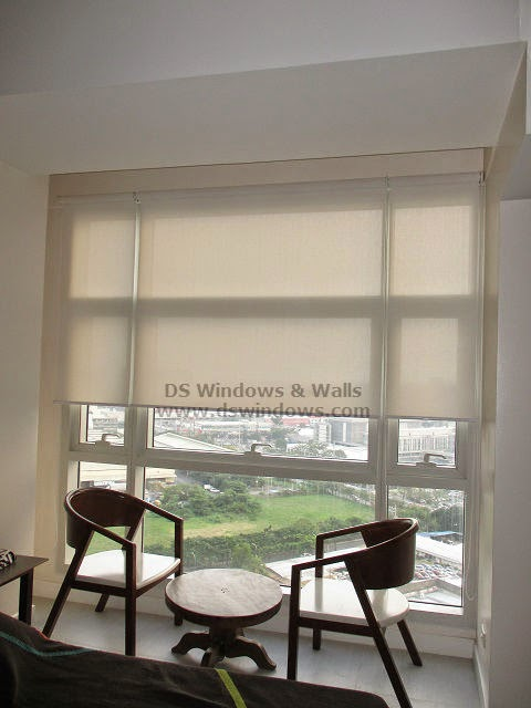 Roller Shades Installed at Bonifacio High Street, Taguig City Philippines