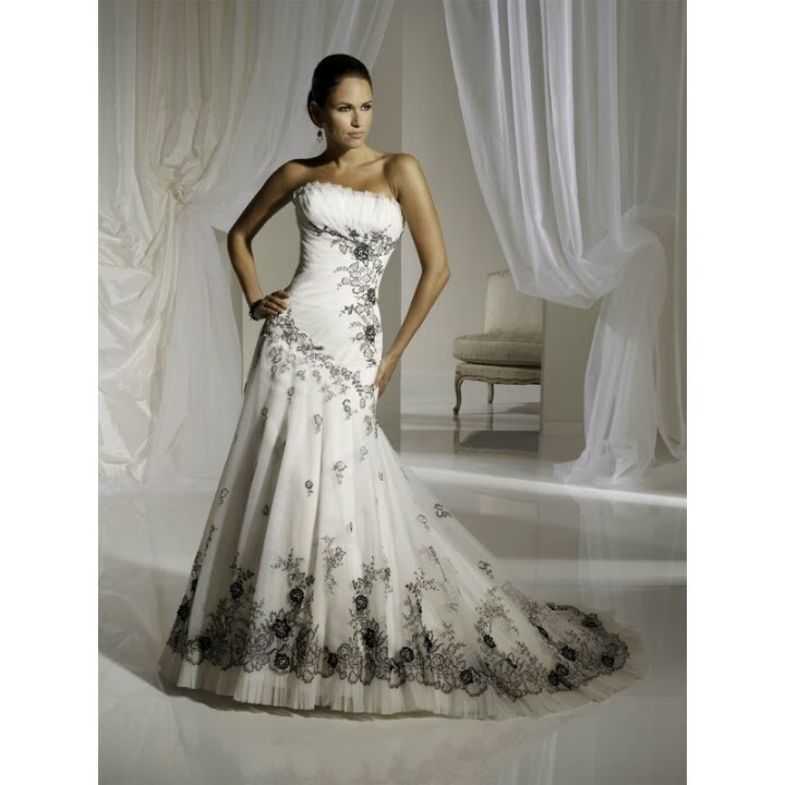 White Wedding Dresses For  : Vip girl dresses white wedding dress with something black