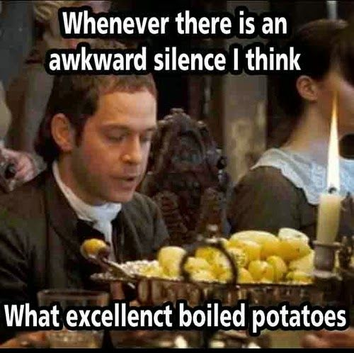 Boiled potatoes are fun.