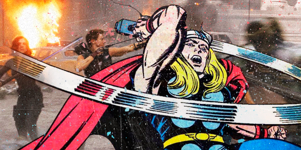 superhero comic and movie mashup thor