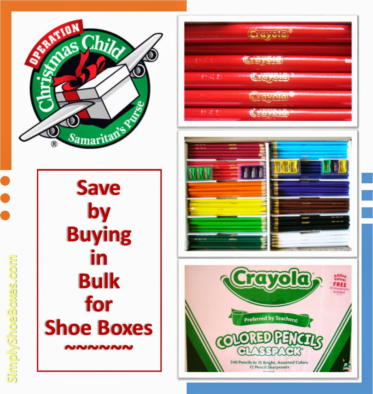 save money by buying in bulk for operation christmas child shoe box gifts