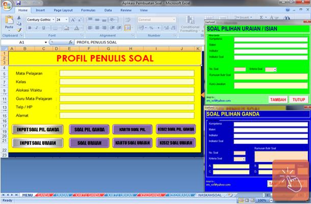 Aplikasi Pembuatan Soal Ujian Sekolah dengan Microsoft Excel