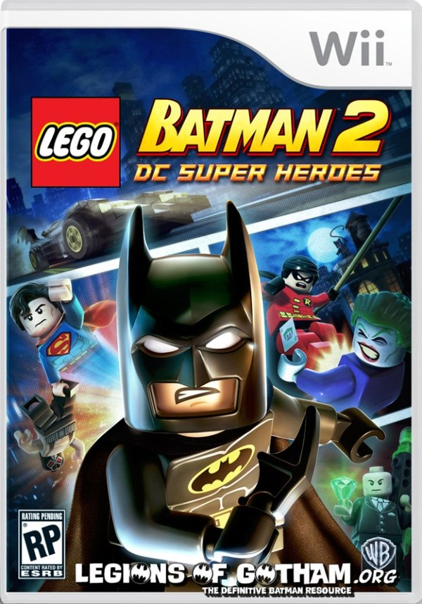 Gotham cover art for lego batman 2 revealed wii xbox 360 and ps3