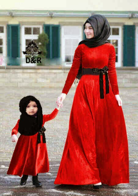 baju muslim couple ibu dan anak 17 baju muslim couple ibu dan anak terbaru,Model Baju Muslim Anak 1 Tahun