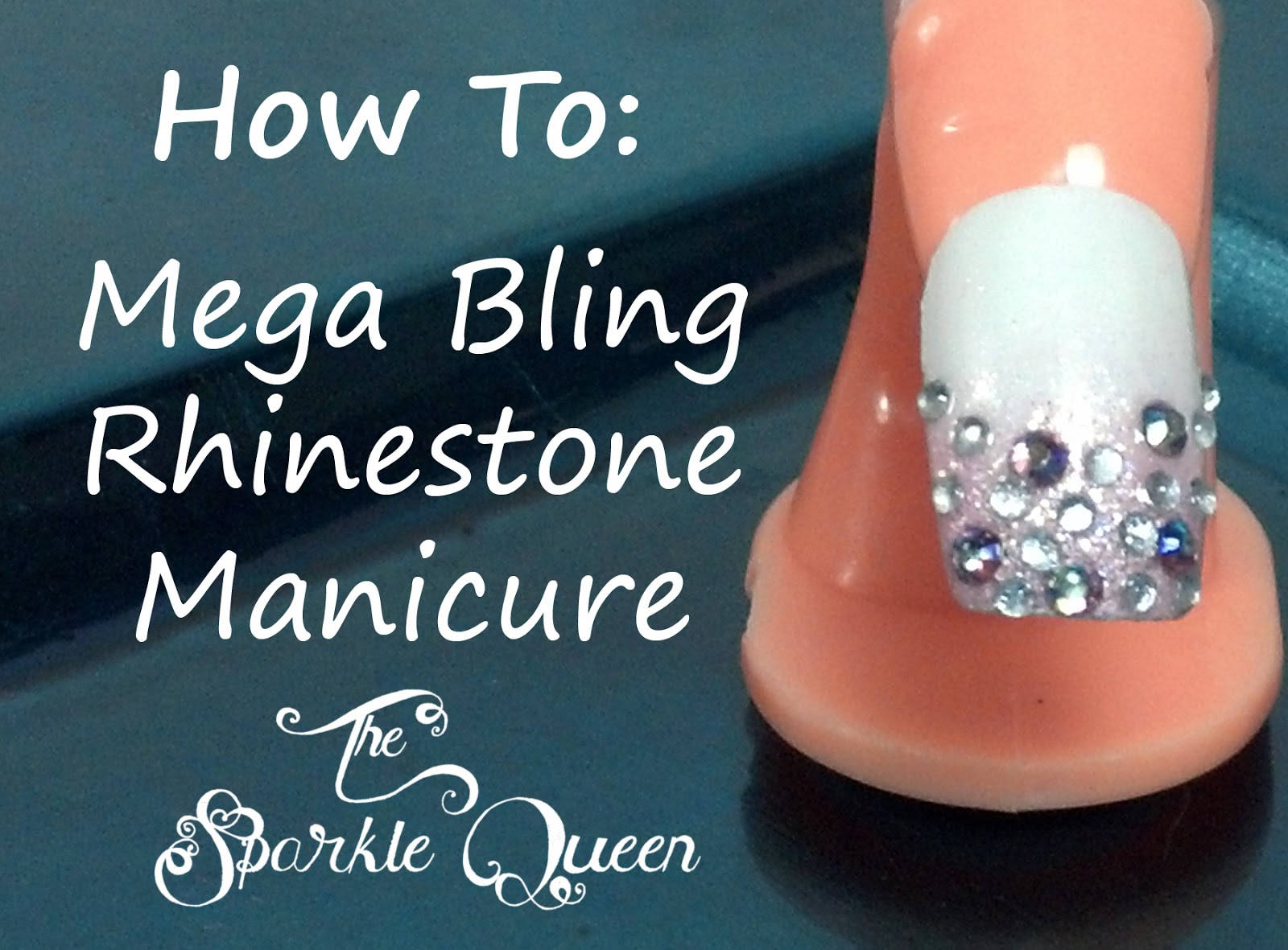 Nail designs with rhinestones and glitter prinsesfo Gallery
