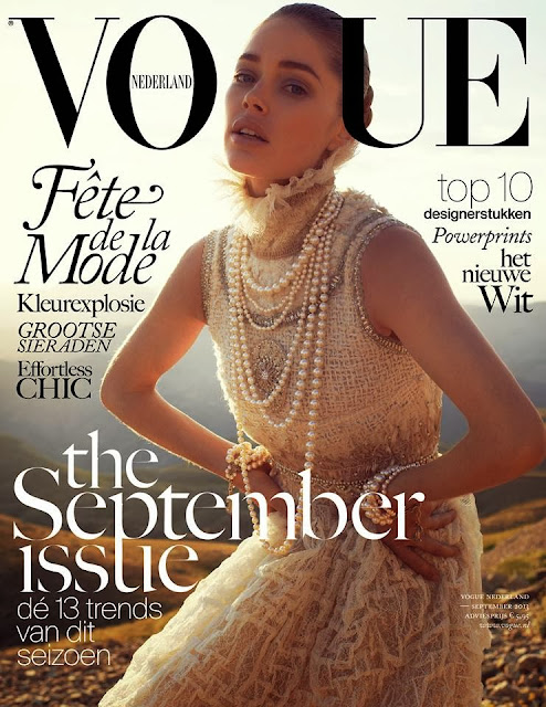 Doutzen Kroes su Vogue Netherlands in Chanel