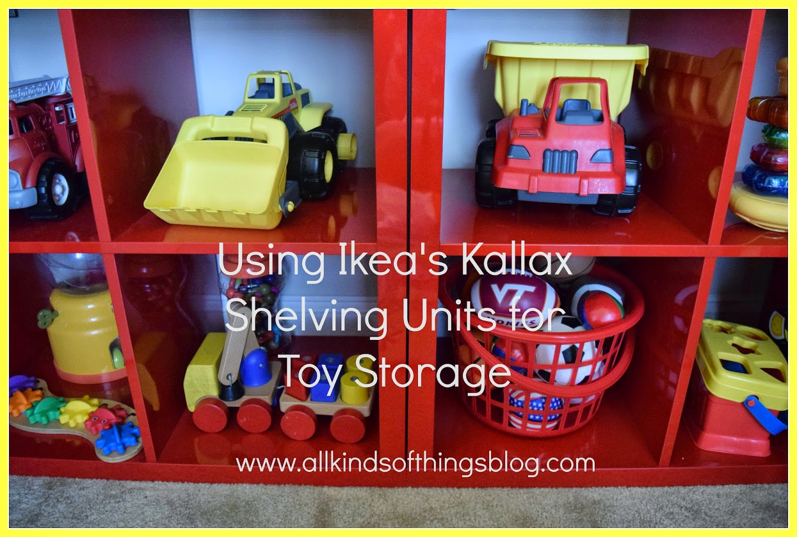 Using Ikea's Kallax Shelving Units for Toy Storage