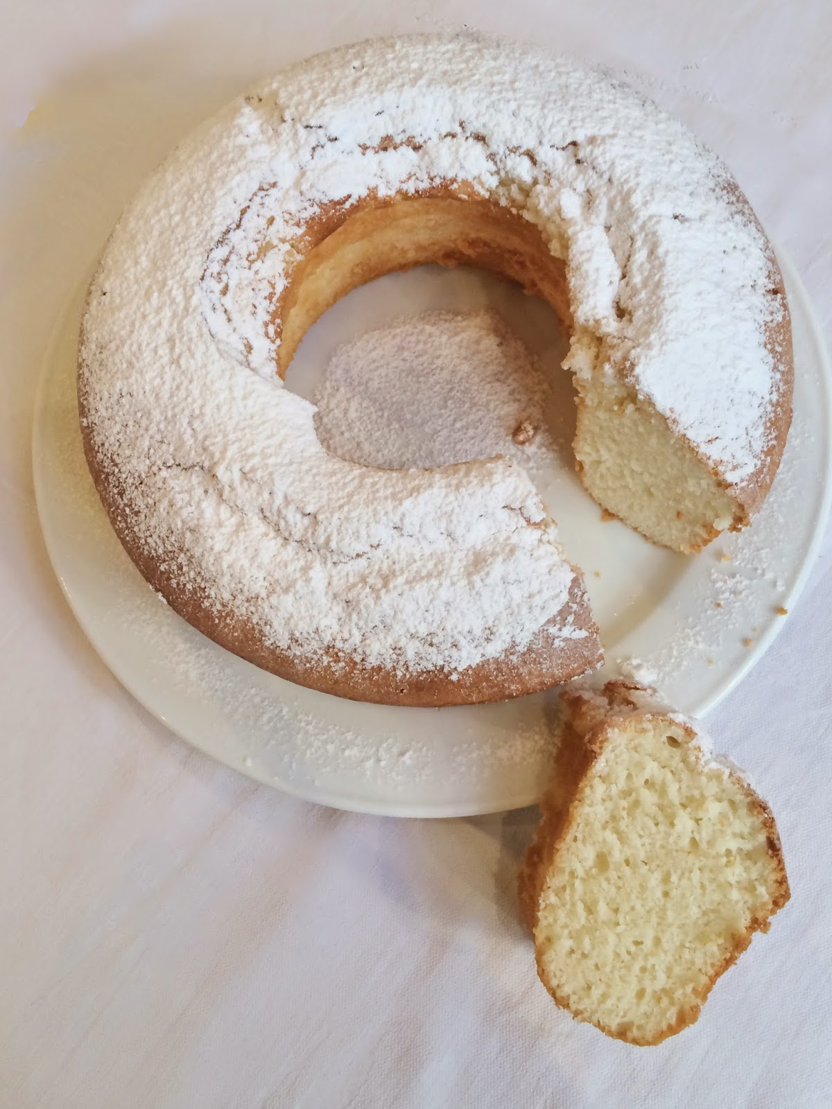 torta bianca allo yogurt - white yogurt cake