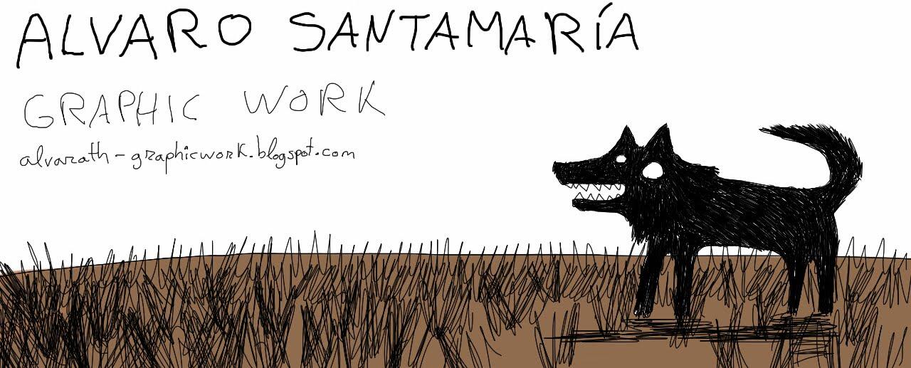 Alvaro Santamaría, trabajo gráfico