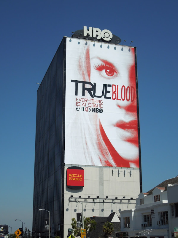 Giant True Blood season 5 billboard Sunset Strip