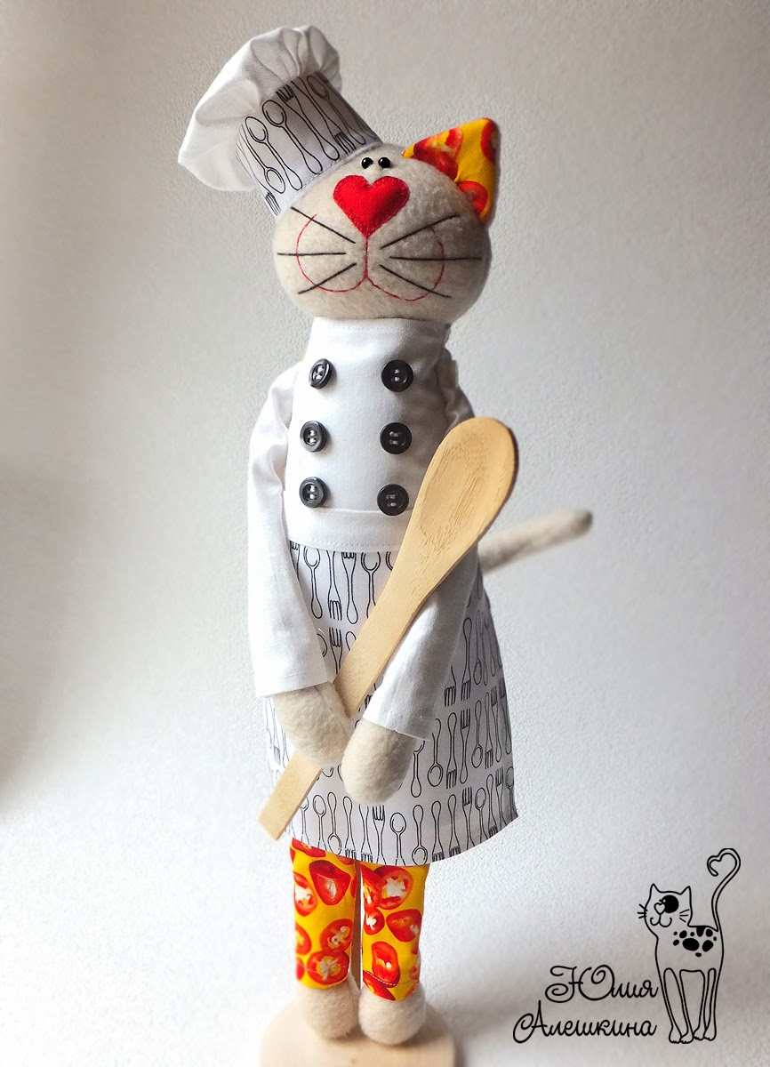 кот повар игрушка