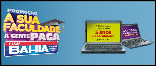 Promoção da Casas Bahia