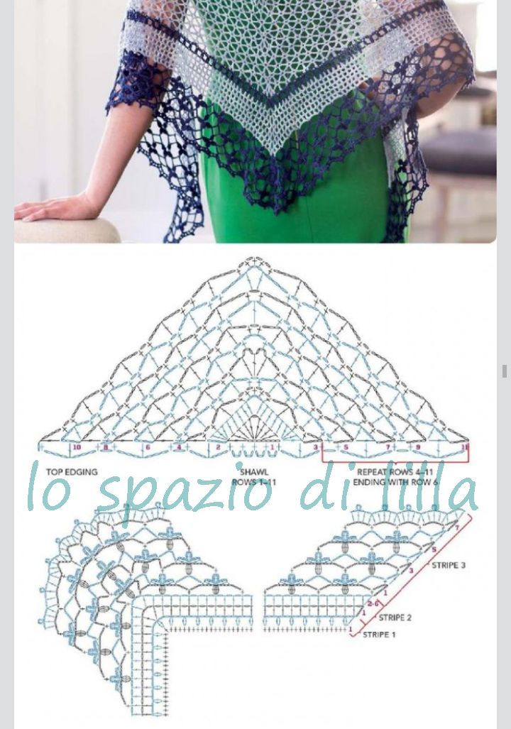 2015 Crochet Patterns : ... di lilla: Scialli crochet con schemi / Crochet shawls, free patterns