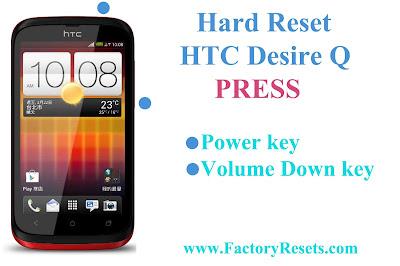 Hard Reset HTC Desire Q