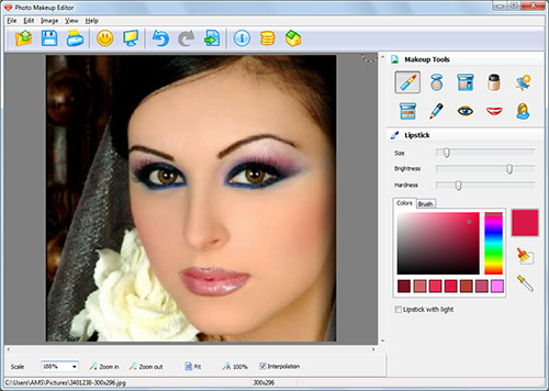 photo makeup editor is a photo retouching and virtual makeup