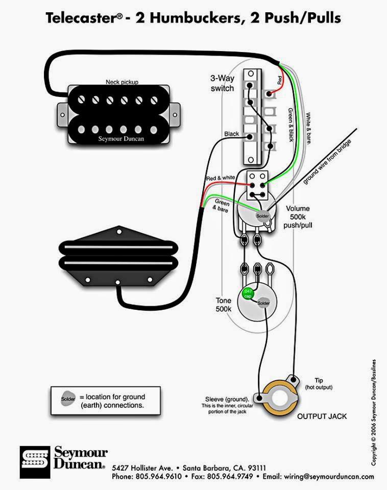 Fender®+Telecaster®+–+2Humbucker,+2+Push-Pulls  Way Super Switch Wiring Diagram Single Coil on
